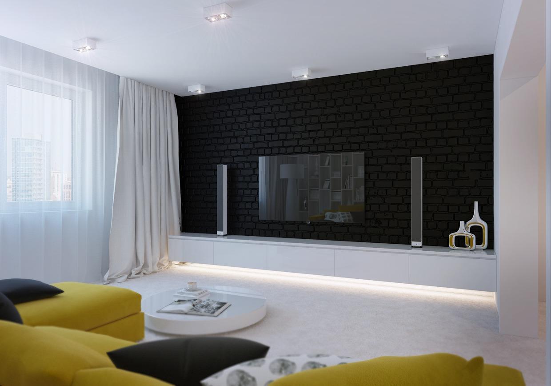 Create Brick Wall In Living Room