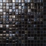 black shiny glass mosaic tile ideas from Casa Italia