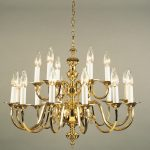 brass and shiny gold pendant chandelier