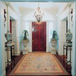 creative-cool-beautiful-nice-great-Aubusson-Entry-Way-rug-with-orange-coloring-with-nice-decoration-of-flower-for-classic-home