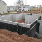 exterior waterproof basement foundation with membrane waterproofing