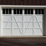 garage door costco from white color solid wood simple detail with window on top
