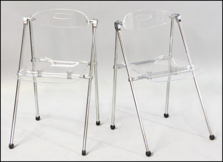 Magnificent Colorful Lucite Folding Chairs Design Homesfeed Ncnpc Chair Design For Home Ncnpcorg
