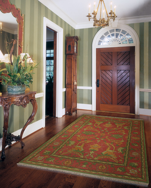 Red Foyer Rug : Elegant entryway rugs design for your home decoration