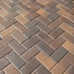 herringbone brick paver patterns for pathways with stack bone edge and 3 color brick for stunning outlook