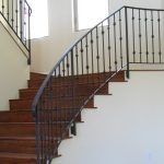 indoor staircase railing in metal material