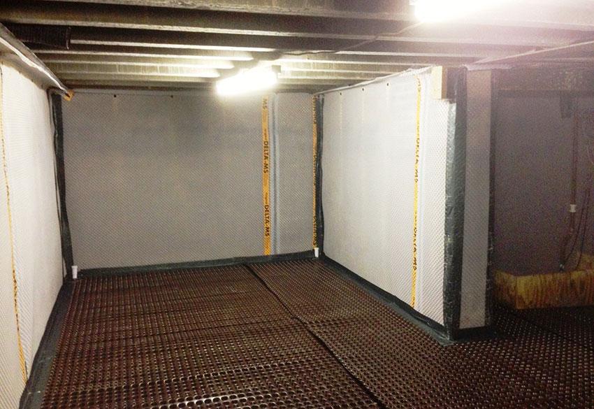 Interior Waterproof Bat With Membrane Waterproofing On Floor And Wall