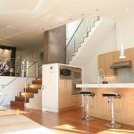 lem piston barstool units  in modern minimalist kitchen modern kitchen appliances  beautiful pendant lamps