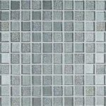 light  grey glass mosaic tiles  for kitchen and bathroom