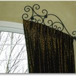 luxurious craftman metal half rod with dark curtain