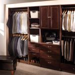 masculine custom closets nyc with wardrobe shoes storage from hard wood material with jute rug and leather stool chair