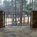 metal railing for home fence system