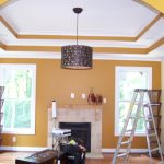miami interior exterior painting with fresh paint colors plus glass windows and fireplace and cool  cylinder pendant lighting