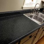 modern-cool-cheapt-nice-stunning-inexpensive-kitchen-countertop-with-rustoleum-countertop-faux-granite-concept-in-black-and-sink