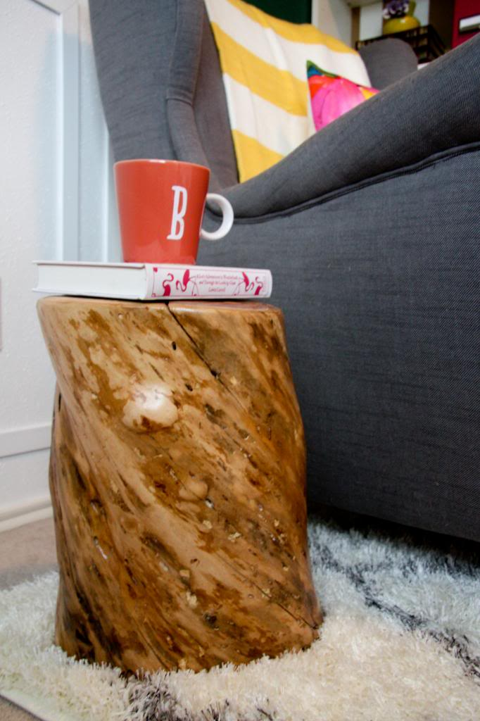 Tree Trunk Side Table Contribute Immense Natural Accent