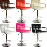 playful modern and comfortable bar stool design with backrest and armrest and stainless steel pole with metal base