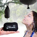 pocket shower head in black