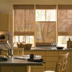 pull down window blinds for window kitchen a rattan basket for  bread storage a set of dining furniture floating kitchen cabinet system under storage for kitchen properties