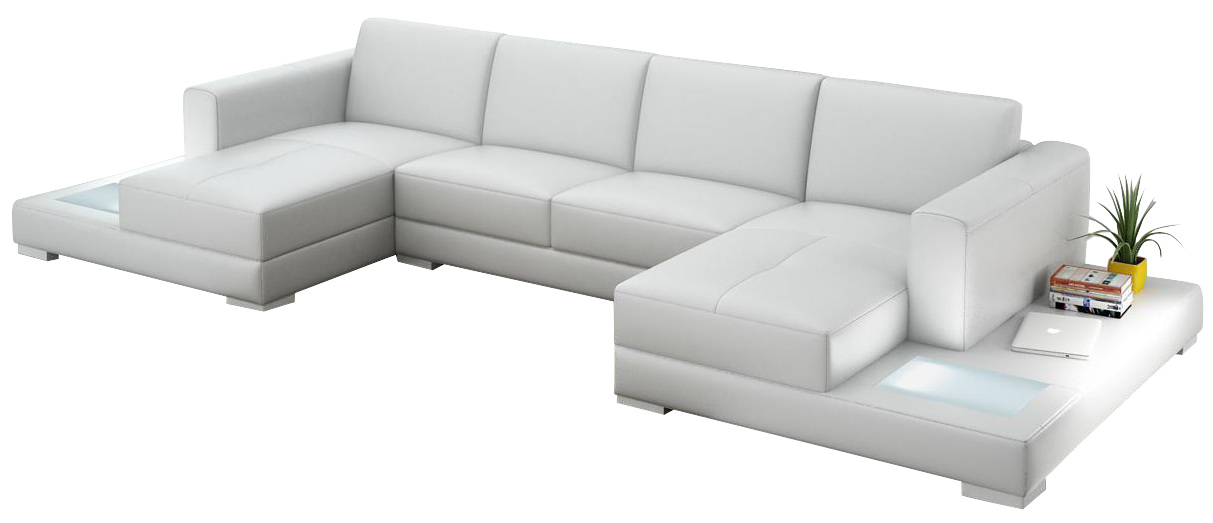 Double Chaise Sectional Sofas on Modern One Bedroom Apartments
