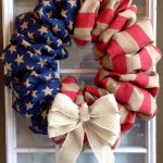recycled clothes wreath with a beautiful ribbon