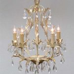 semi gold pendant chandelier fixture with crystal ornaments