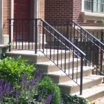 simple iron railing for outdoor staircase