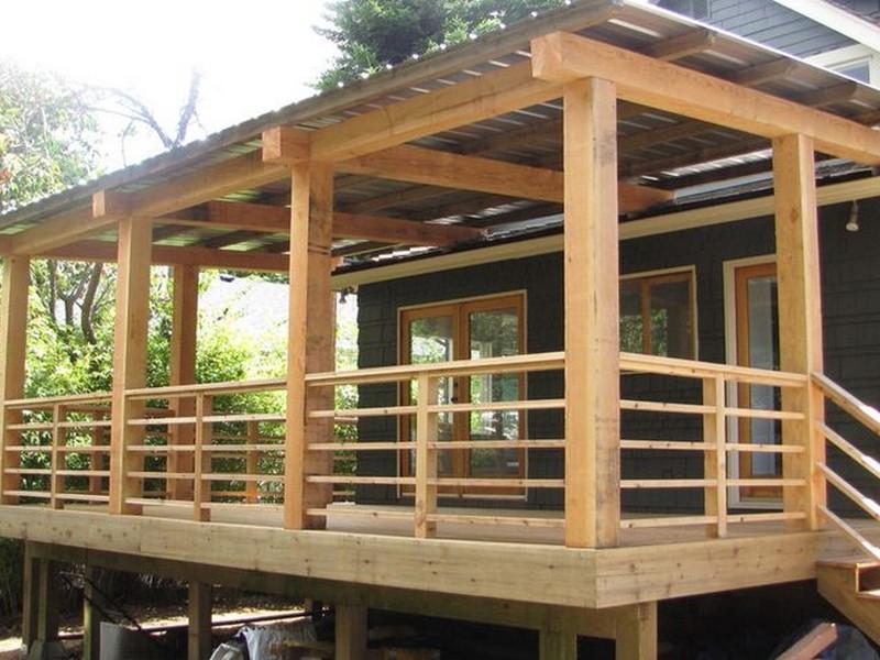 horizontal porch railings Gallery