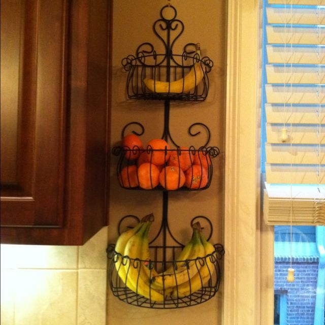 Attractive Wall Mounted Fruit Basket Inserts the Interior Stylishly without  KK74