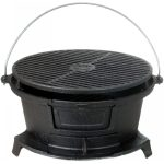 traditional Hibachi BBQ grill in round shape