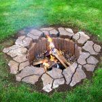 underground fire pit idea