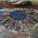 unique design of underground fire pit in rounded shape