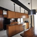 unique mid century modern kitchen cabinets  that are floating  a set of dining furniture black pendant lamp for dining room