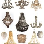 various designs of pendant chandelier s made from oyster shells