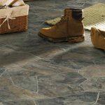 vinyl floors idea for basement in natural stone like