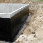 waterproof basement for foundation with membrane system