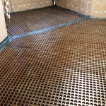 Waterproofing Basement For Floor And Wall With Membrane Material