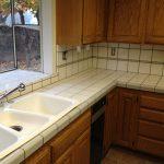 white ceramic tiles for kitchen counter double white sink plus faucet