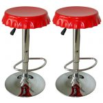 wonderful-creative-amazing-nice-cool-bar-stool-with-American-Home-Soda-Cap-Swivel-Barstools-concept-single-leg-made-of-steel-with-red-color