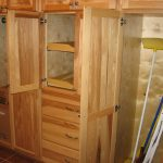 wood closet as cleaner storage