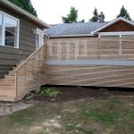 wood horizontal deck idea