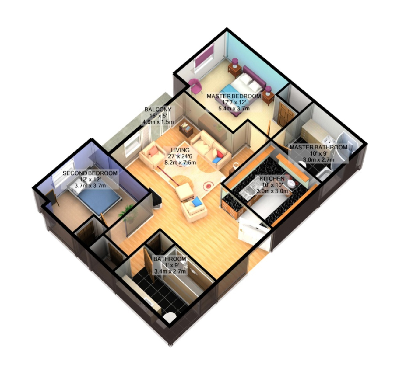 Images Of Two Bedroom Houses. Perfect Bedroom House Plans Plans With ...