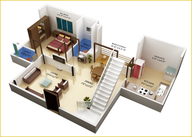 Best 3d Duplex House Plans India Contemporary - Best image 3D home ...