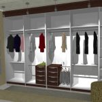 Minimalist garment racks created by using virtual designer