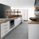 Modern minimalist kitchen sketch in 3D version designed by Home Depot kitchen design tool