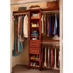 Small closet organizer for garments and shoes as the result of virtual closet design tool