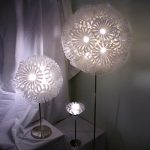 Sweet table light fixtures in ball shape and pure white color