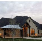 Texas Hill Country home design in traditional style with traditional car port