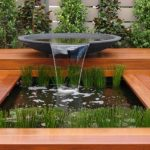 Adorable Nice Cool Water Features For Gardens Beautiful Design Wooden Bowl Waterfall Pond Listed In Splendid Modern Outdoor Water Features Ideas