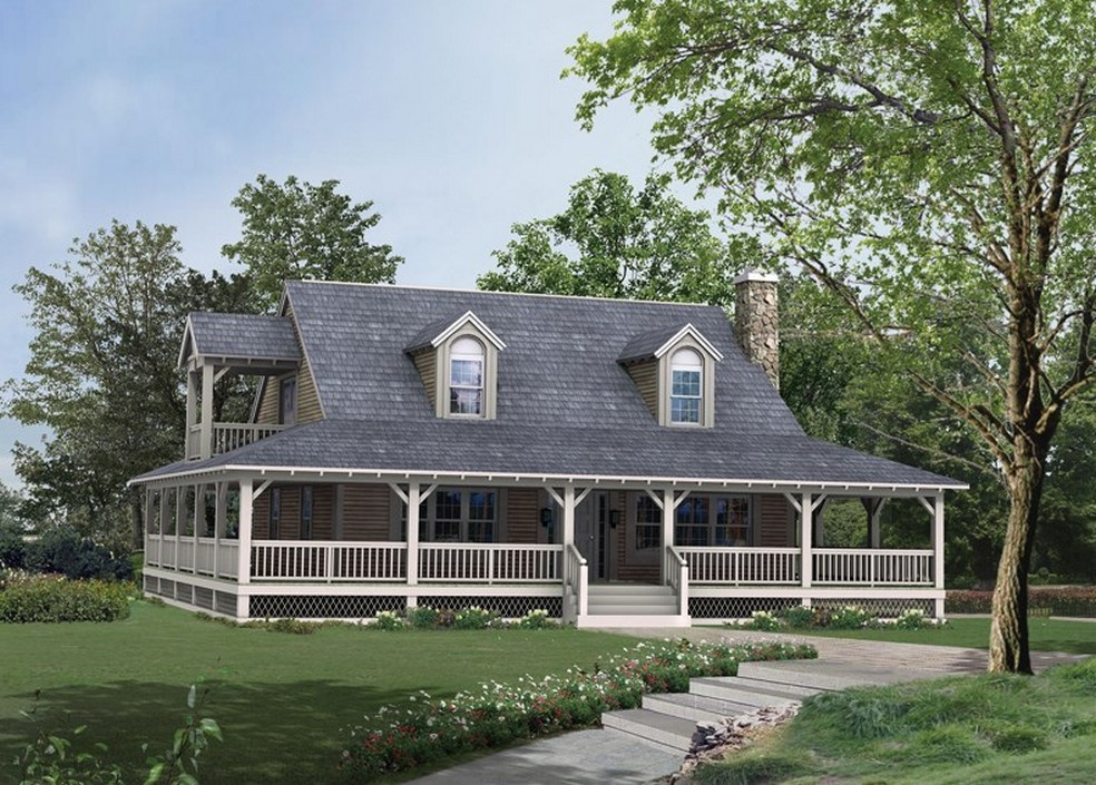 Country Home Design With Wraparound Porch HomesFeed