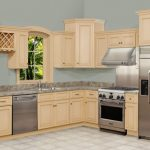 amazing L shaped kitchen design with beige cabinet and stainless kitchen set with gray cheap top design with lattice storage accent